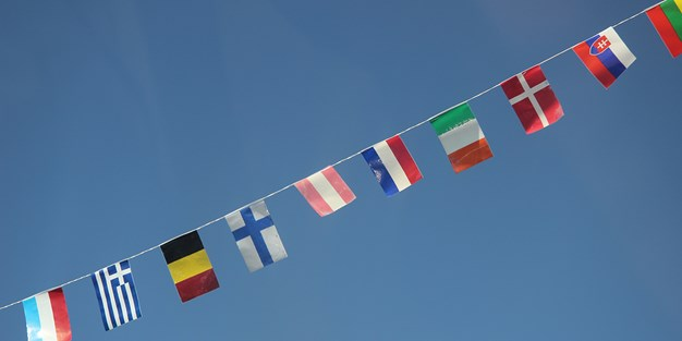 Flags from different EU-countries. Photo