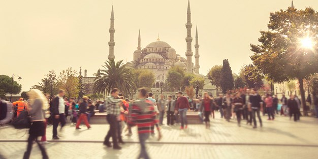 The Blue Mosque in Istanbul, Turkey. Photo