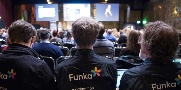 Crowded seminar during Funka Accessibility Days 2016