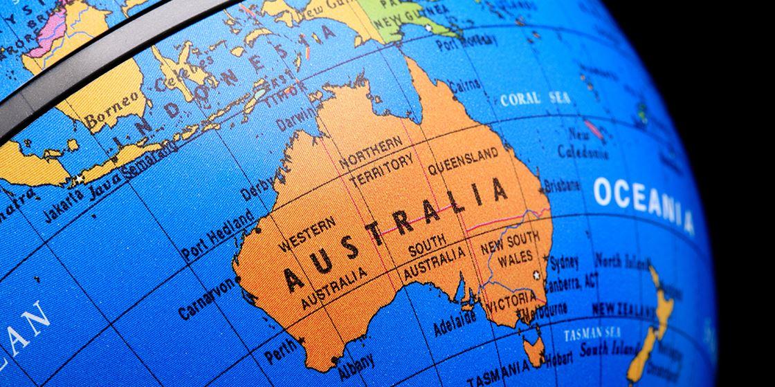 Australien Karta Lander.Funka I Australien Funka
