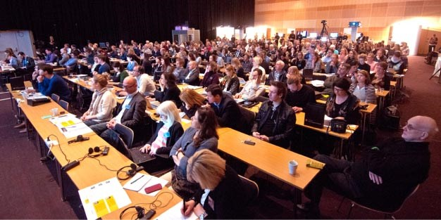 Lots of participants at the Funka Accessibility Days seminar. Photo