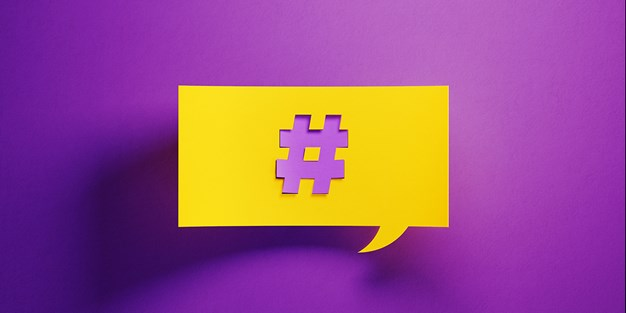 A hashtag symbol. Illustration