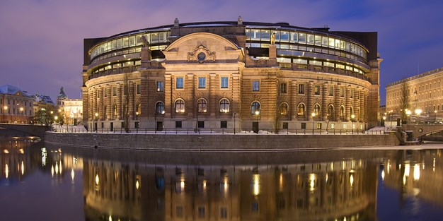 Parliament building in Stockholm. Photo