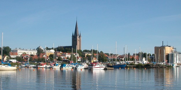 The harbour in Mariestad. Photo
