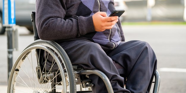A person in wheelchair. Photo