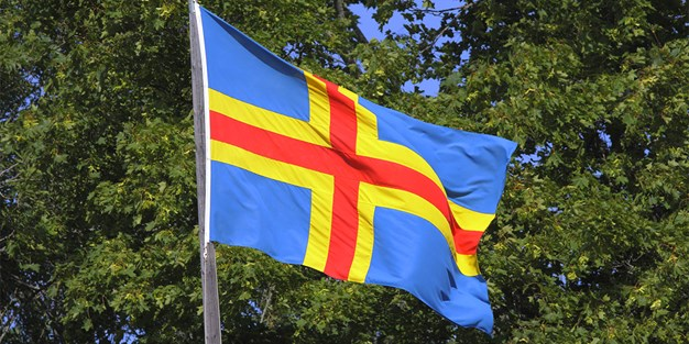 Ålands flagga. Foto