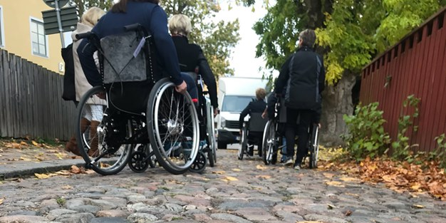 People in wheelchairs. Photo