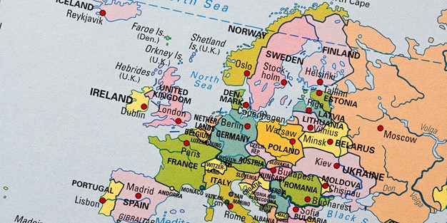 Map of Europe. Photo