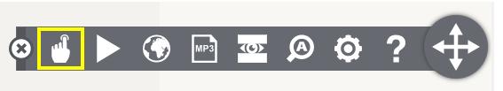 Peka/Markera och läs ikon