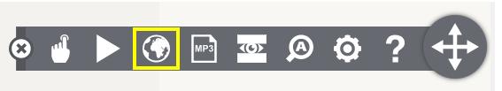 Översätt språk ikon