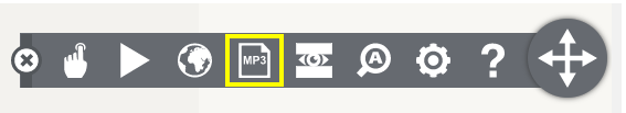 Spara till Mp3 ikon