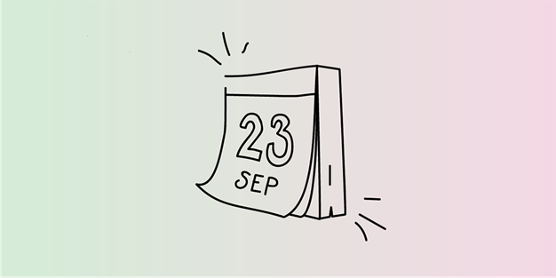 A calendar showing September 23. Illustration